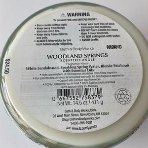 bath & body works Accents - Bath & Body Works Woodland Springs 3 Wick Candle